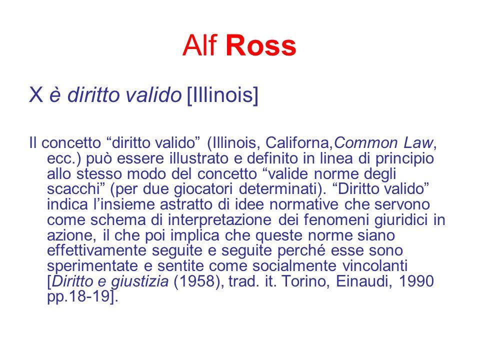 Alf Ross X è diritto valido [Illinois]